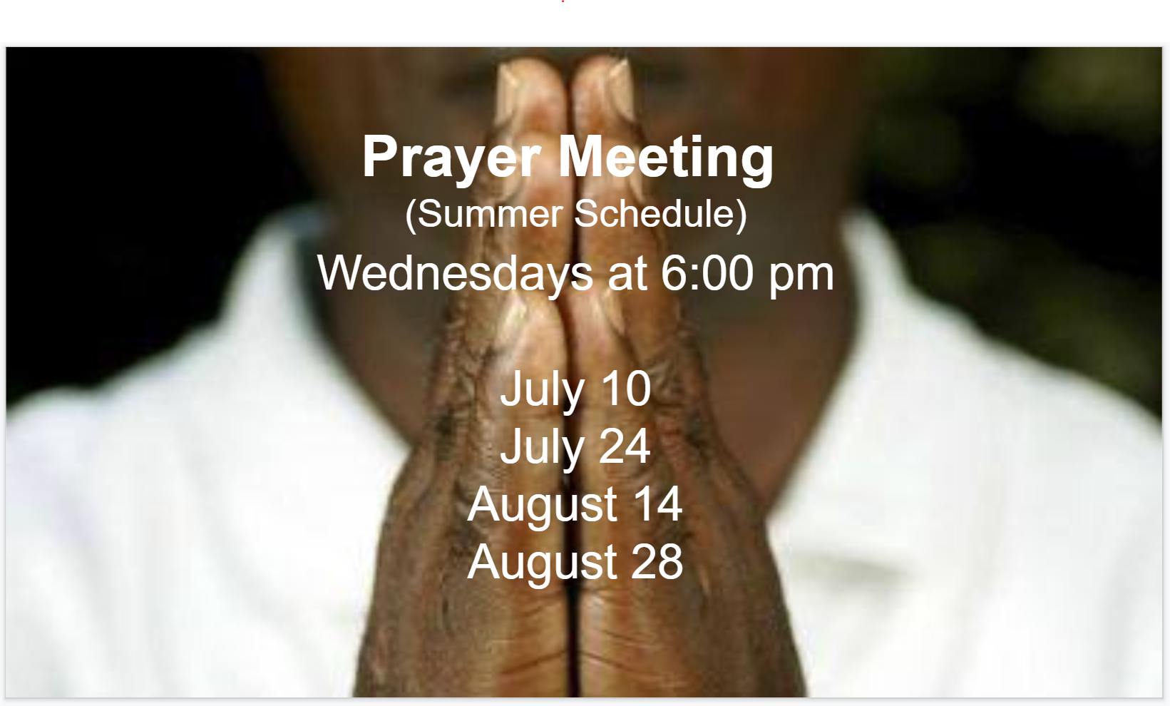 Prayer Meeting Fellowship Missionary Baptist Church, Minneapolis MN