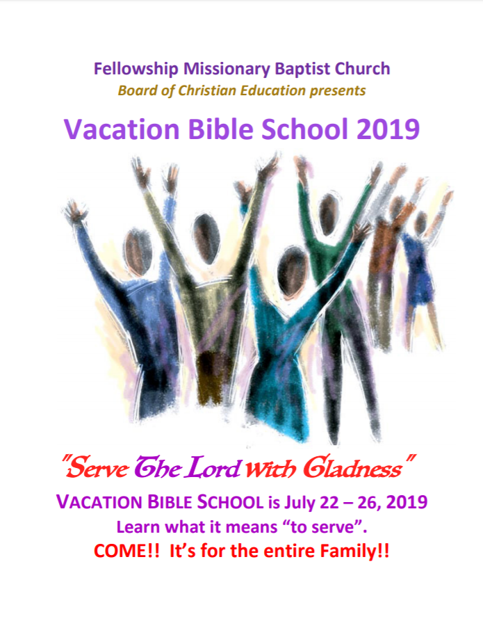 Vacation Bible School Fellowship Missionary Baptist Church, Minneapolis MN