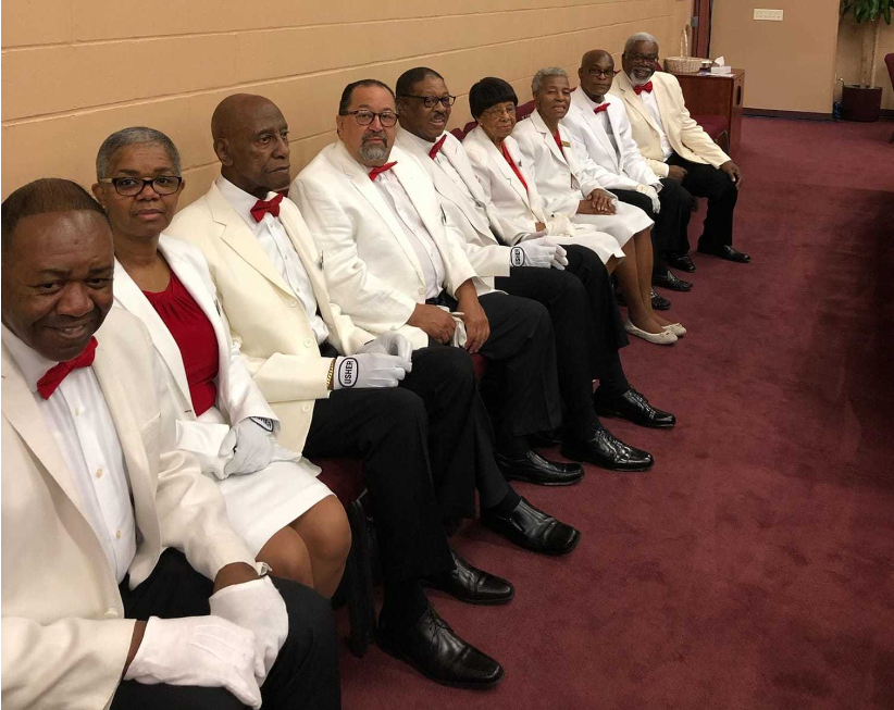 Ushers waiting to serve